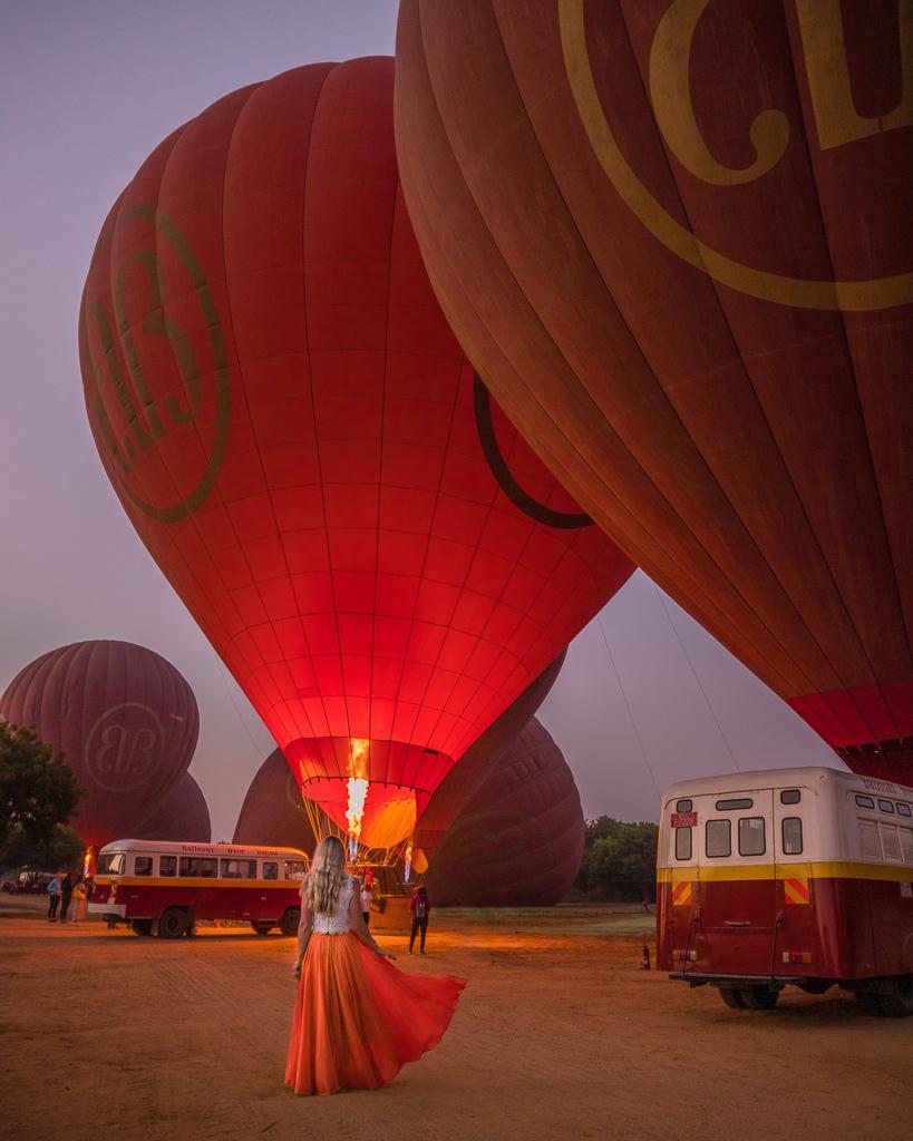 Hot Air Balloons in Bagan - Myanmar