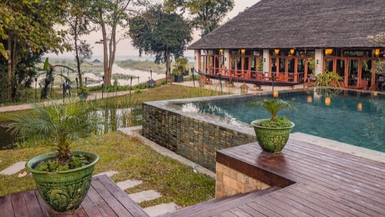 Villa Inle Boutique Resort, swimming pool - Inle Lake, Myanmar