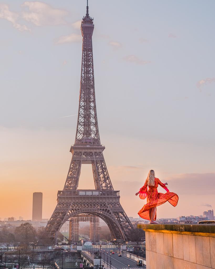 Sunrise at the Eiffel Tower, Trocadero - Paris