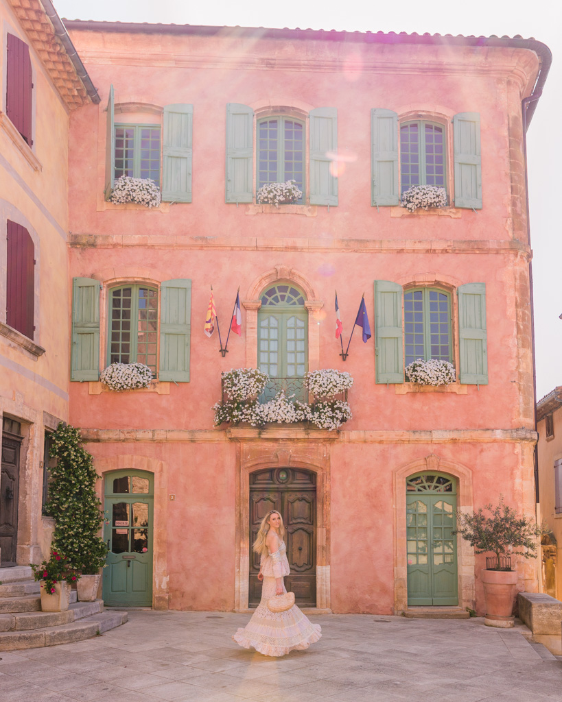 Town hall of the village of Roussillon in Provence, France