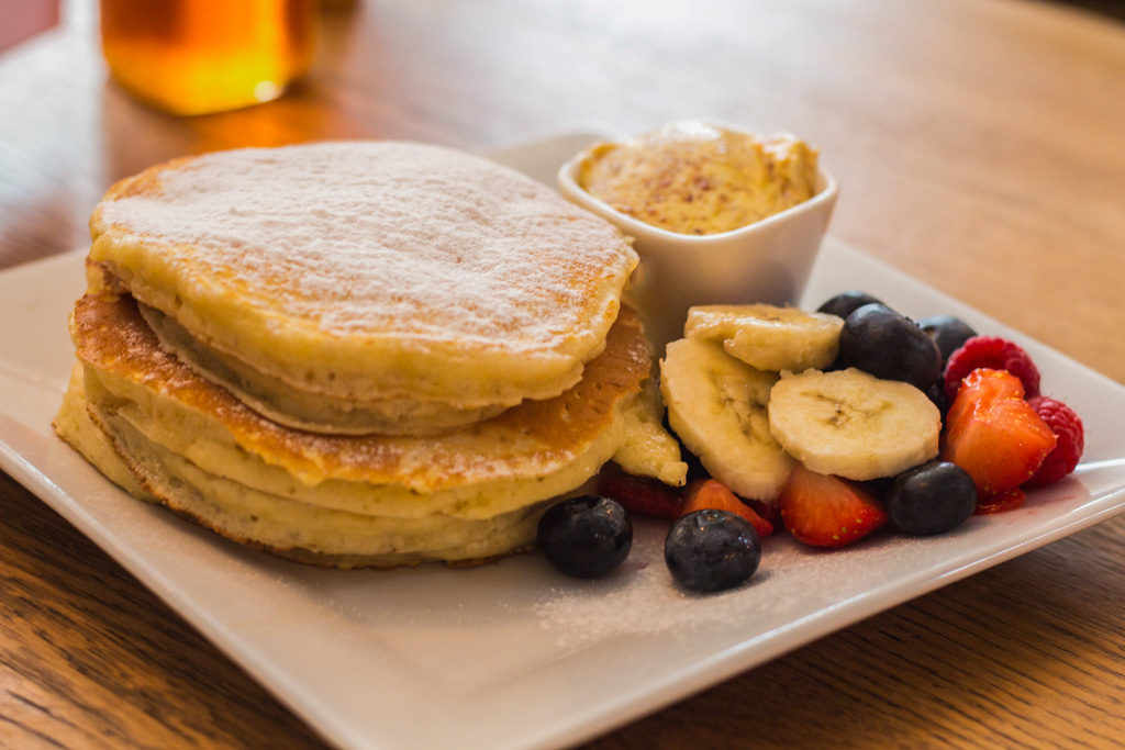 Pancakes at Breakfast Club. Best breakfast and brunch in Amsterdam.