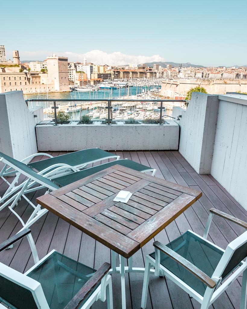Terrace of Sofitel Marseille - French Riviera
