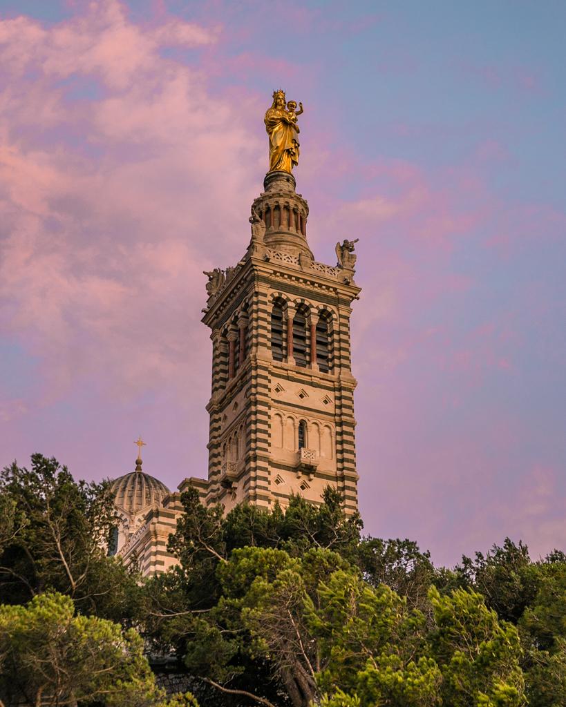 Notre Dame de la Garde in Marseille - French Riviera