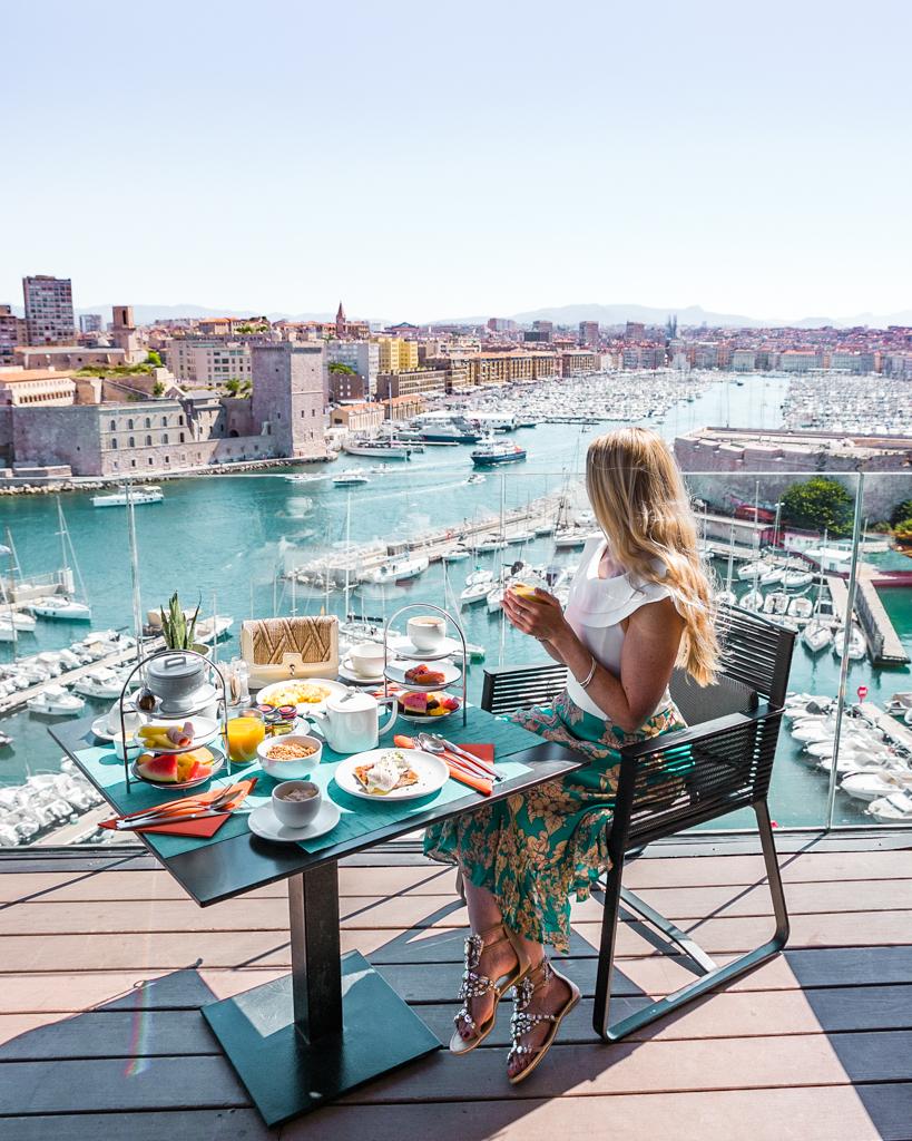 Breakfast at the Sofitel Marseille - French Riviera