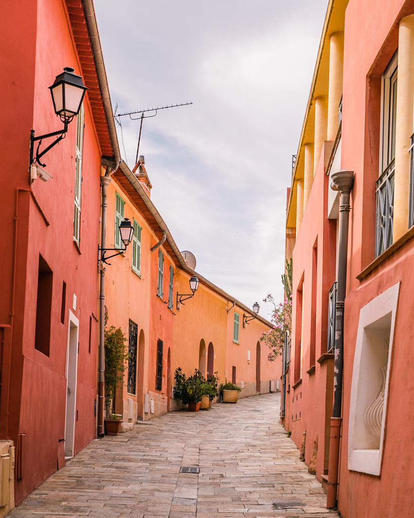 Colorful street in Villefranche-sur-Mer - French Riviera