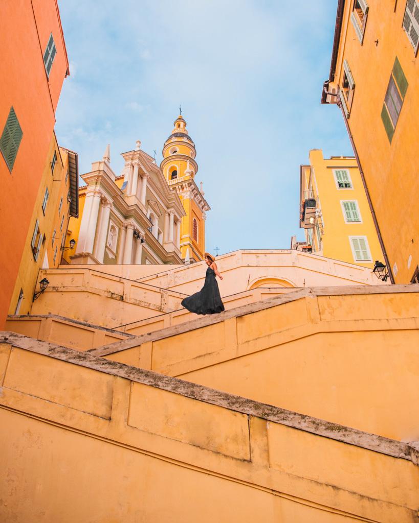 Staircase Rampe Saint-Michel in Menton - French Riviera