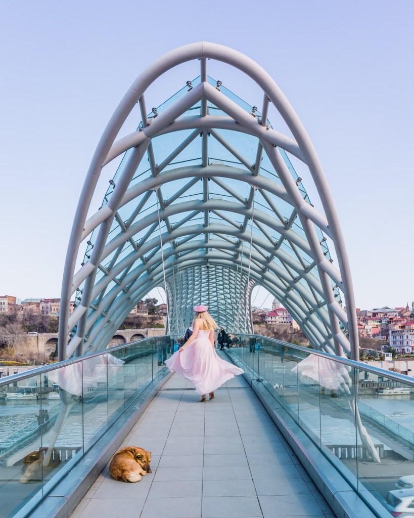 The Bridge of Peace in Tbilisi - Georgia