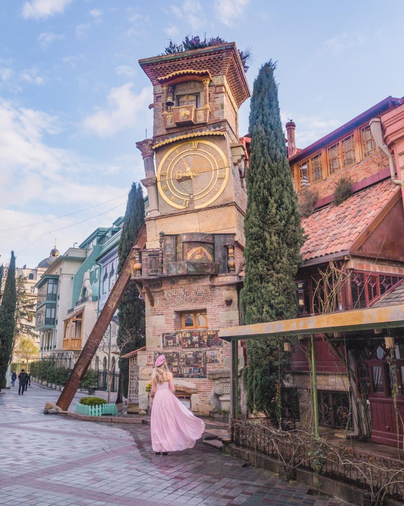 The Leaning Clock Tower in Tbilisi - Georgia