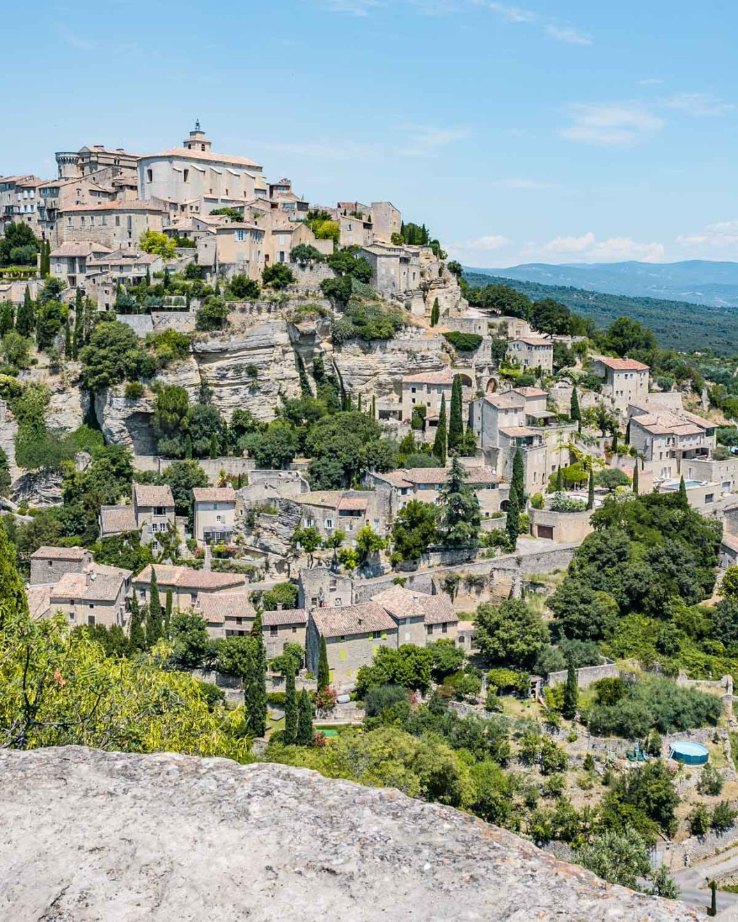 View of Gordes in Provence