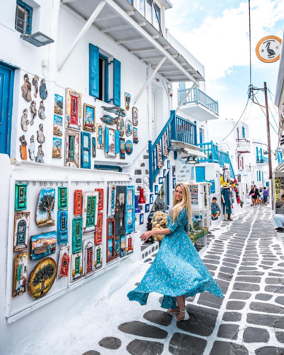 Souvenir shop in Mykonos