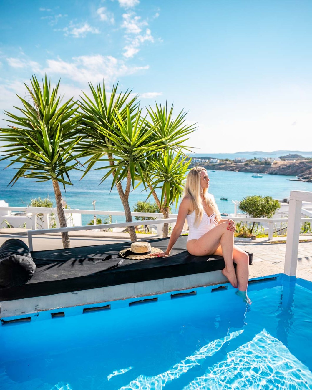 Private pool at the Votsalaki Mykonos Boutique Resort