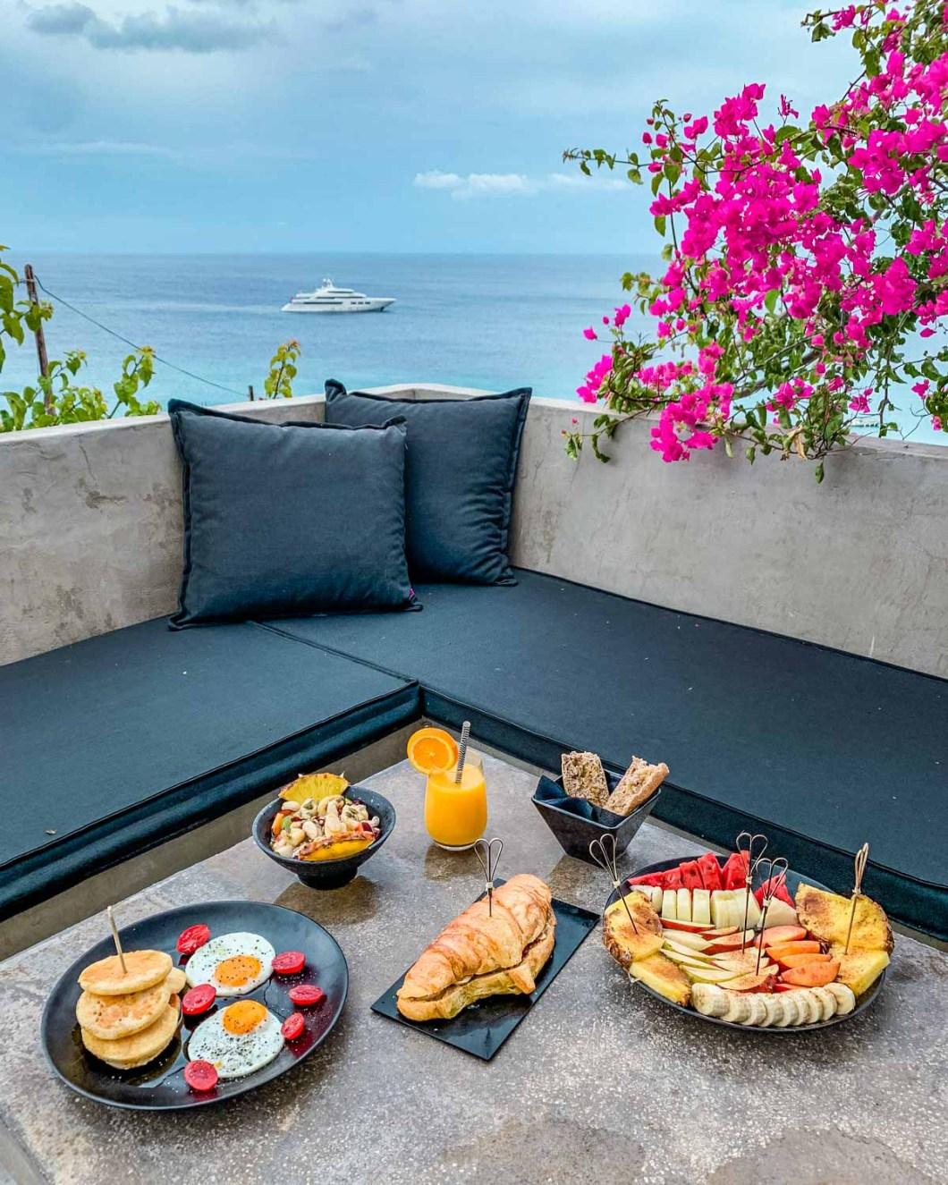 Breakfast at the Votsalaki Mykonos Boutique Resort