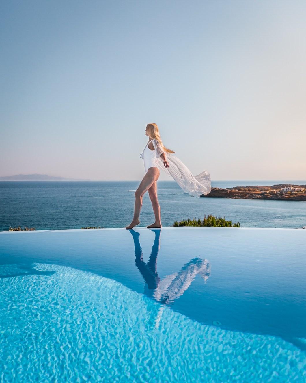 Infinity pool at the Votsalaki Mykonos Boutique Resort