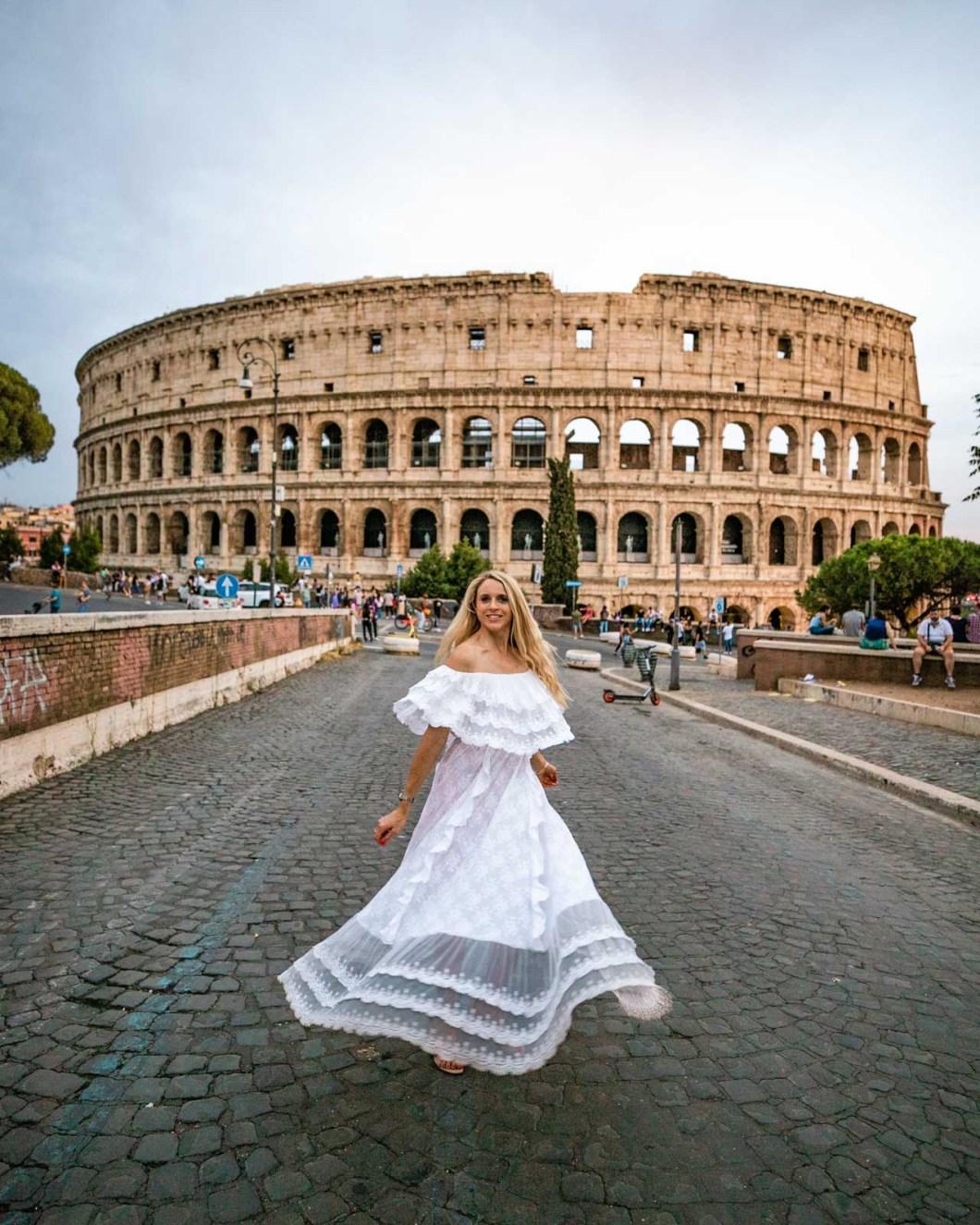The Colosseum from Via Vittorino da Feltre in Rome