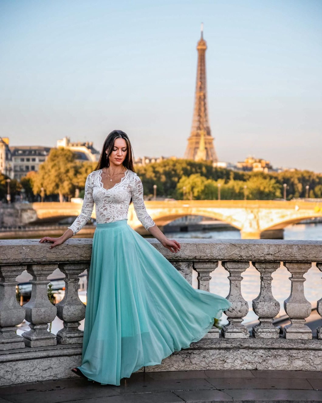 Photoshoot at the Pont Alexandre III