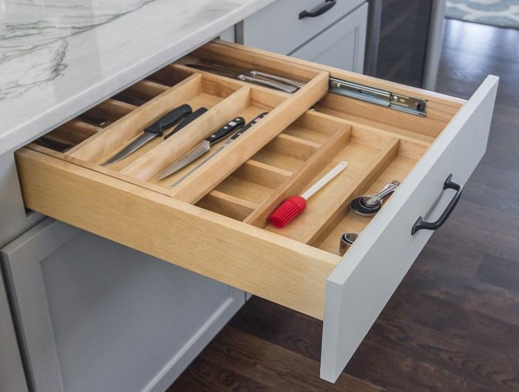 Kitchen island with Drawer in Drawer storage