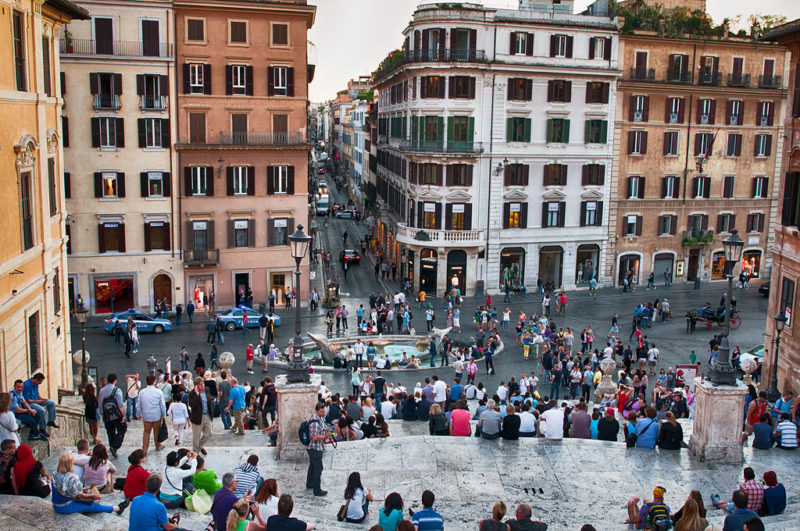 59371a67bcddaf641da4410e Spanish Steps From Above 800x531 - 4 HOURS IN ROME: HOW TO SEE EVERYTHING