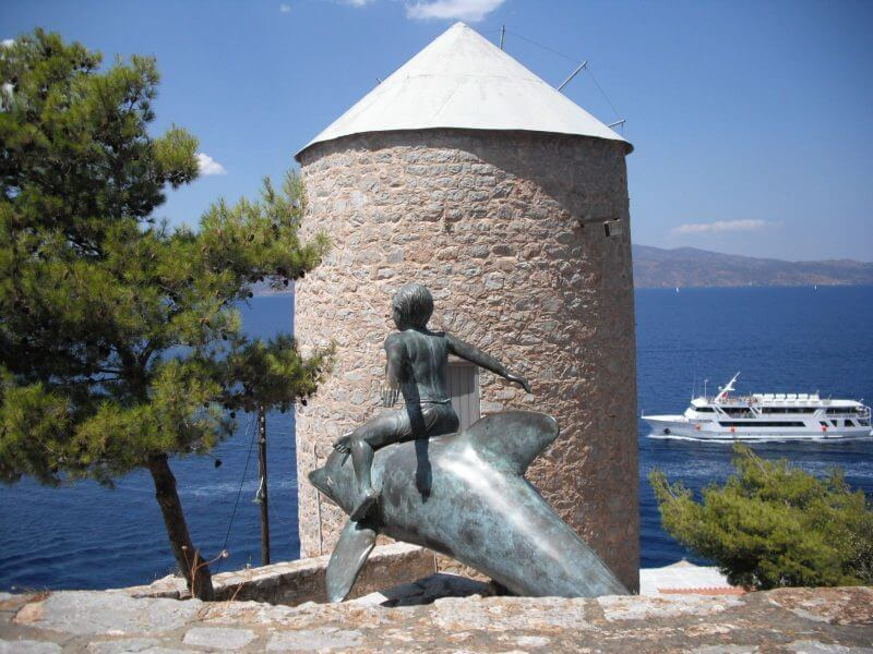 """the """"Boy on a dolphin"""" statue"""