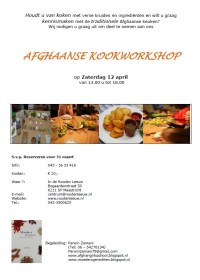 Afghaanse Kookworkshop