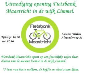 Uitnodiging opening fietsbank