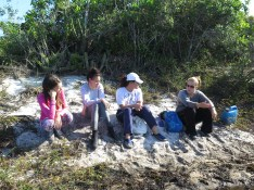 Diversos aspectos das lagoas costeiras foram abordados na prática
