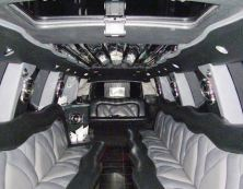 Image of escalade limo interior