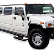 Image of White H2 Hummer 18 passenger for night outs