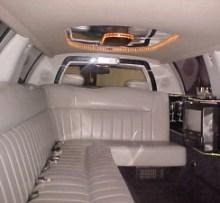 interior of 8 passenger stretch limo photo