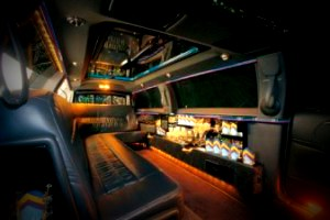 Image of interior of Stratford limousine