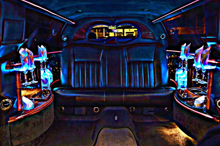 6 Passenger Limousine Interior @ Night