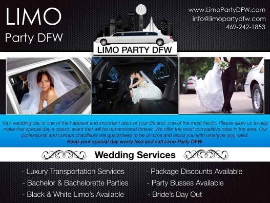 Wedding Information Limo Event Rental Service DFW Dallas Fort Worth