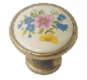 ST Fornitue 3090 Pink Blue Flowers Porcelan Button 70815