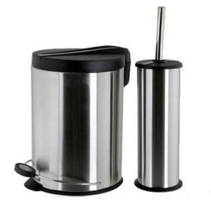 Lexis 5Liter Trash Can Plus Toilet Brush