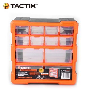 Tactix 12 Compartments Storage Case front
