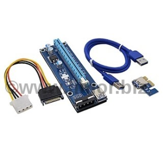 מרחיק כרטיס מסך PCI-E 1X to 16X Riser