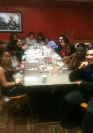 Picture of prom seniors eating at Norms in Lakewood, CA