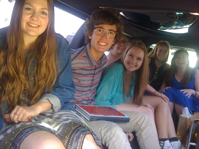 Orange County Limo to the spa / nail salon and lunch at PF Chang's Restaurant