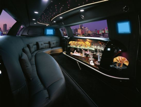Interior pictures of 10 passenger limousine in Orange County, CA