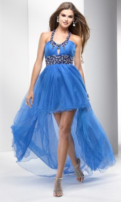 Homecoming high low dress is good for middle school or high school homecoming; hides the apple bottom, too