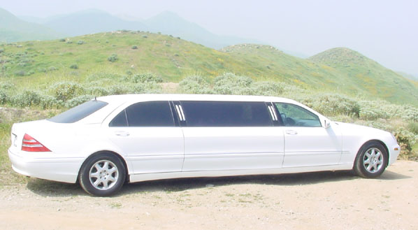 8 Passenger Mercedes 500 S Series Limo Orange County Los