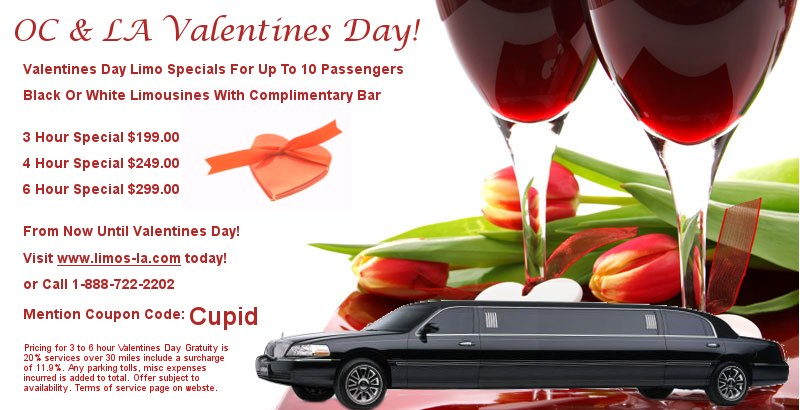 Valentines Day Limousine Specials Orange County Amp LA