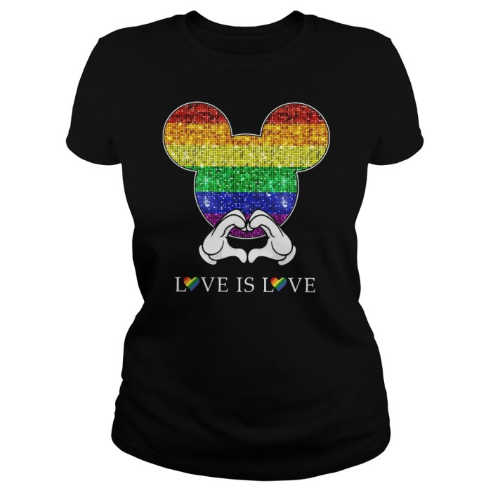 Mikey Disney LGBTQ love is love shirt