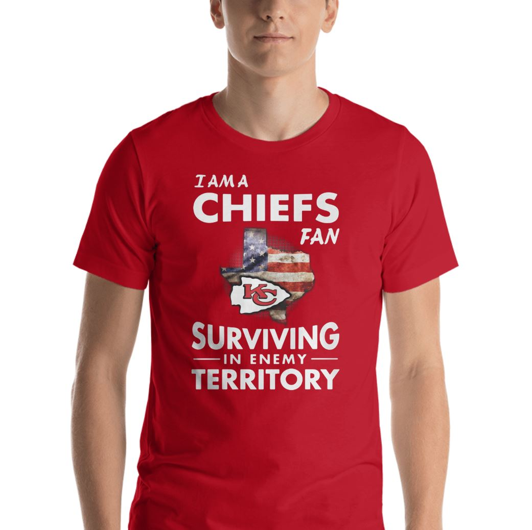 I'm a Chiefs fan surviving in enemy territory shirt