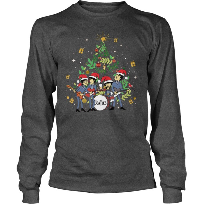 The Beatles and Christmas tree shirt