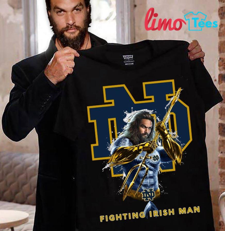 Aquaman Notre Dame Fighting Irish man shirt