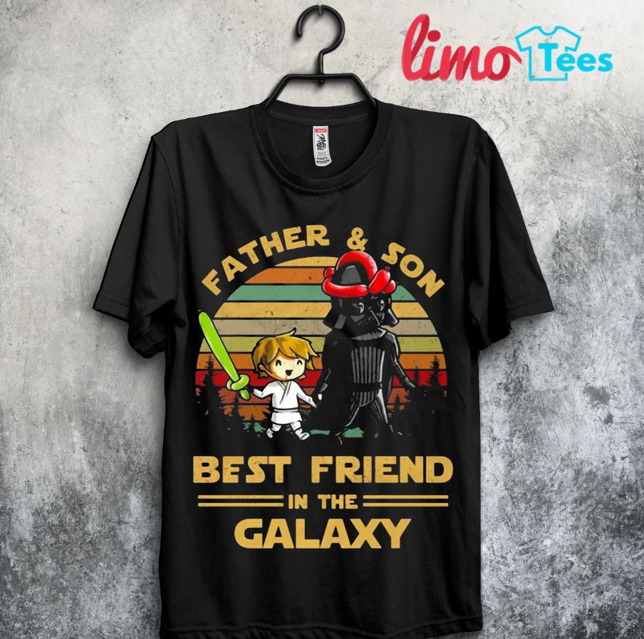 Darth Vader and Luke father and son best friends in Galaxy sunset shirt