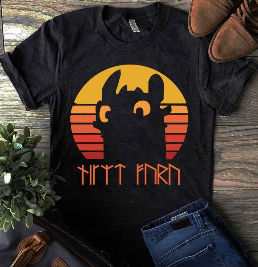 Night Fury vitage sunset shirt