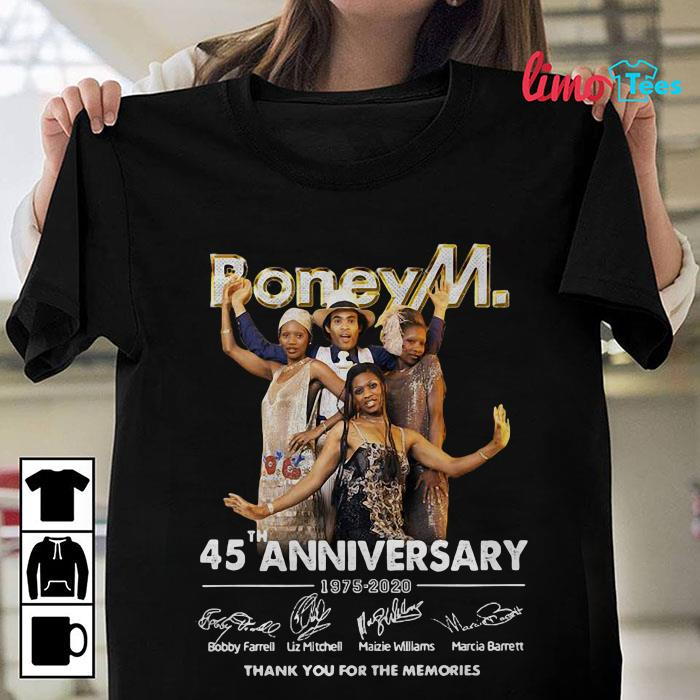 Boney M 45 anniversary thank you for the memories shirt
