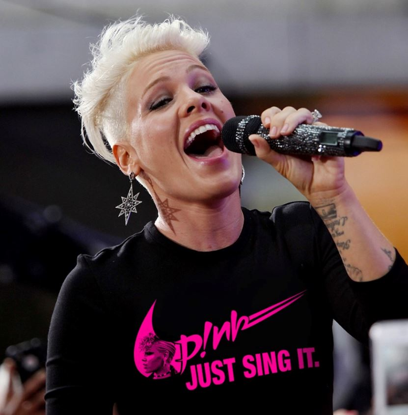 Pink just sing it t-shirt