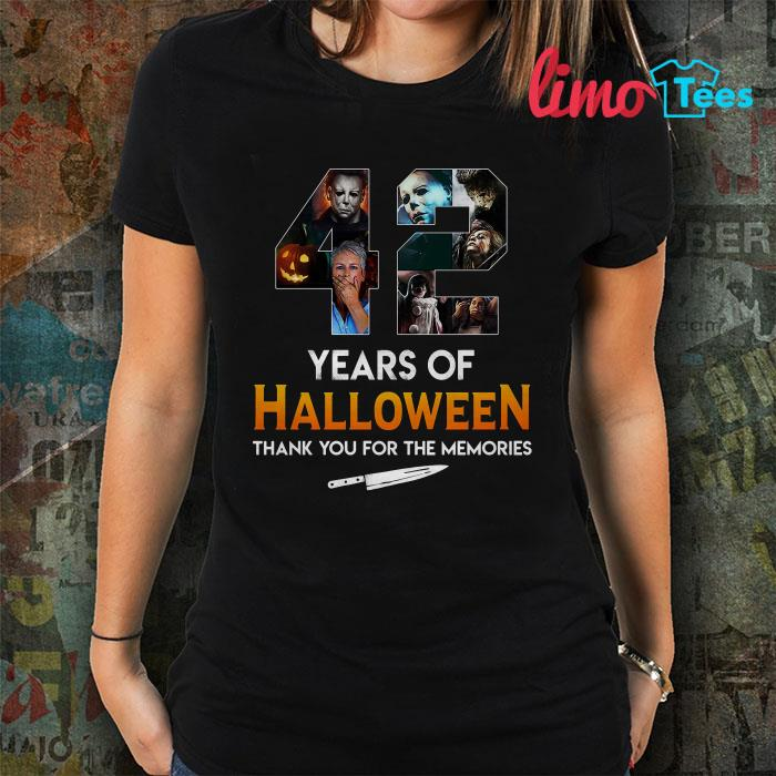 42 year of Halloween thank you for the memories shirt